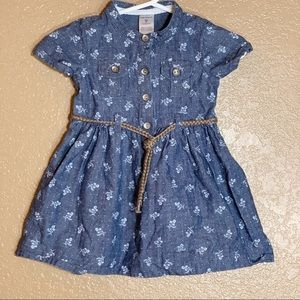 Carters baby girl Jean dress with belt
